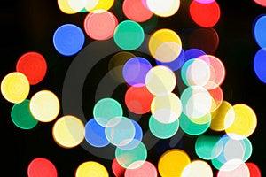 Den färgrika julen tänder Royaltyfria Bilder