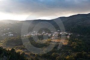 Mountain Village At Dusk Stock Image - Image: 3268411
