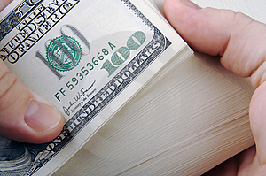 Man With Hundreds Stock Photo - Image: 3274620