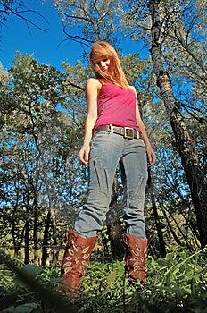 Slim Shaped Blond Girl Royalty Free Stock Photography - Image: 3277057