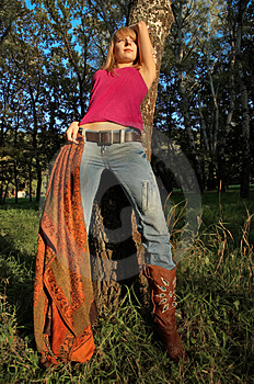 Slim Shaped Girl Enjoying Life Royalty Free Stock Photos - Image: 3277058