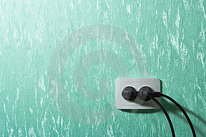 Wall outlets Stock Photos