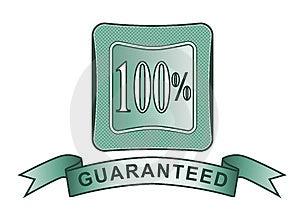 Gewaarborgd CREST 100% Stock Fotografie - Afbeelding: 3284522