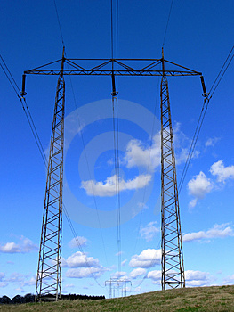 Power Line Royalty Free Stock Images - Image: 3284669