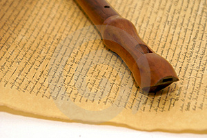 Recorder With Parchment Royalty Free Stock Image - Image: 3291926