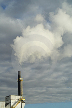 Factory Smokestack  Royalty Free Stock Images - Image: 3294439