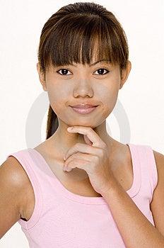 Asiatique Dans Le Rose 12 Images libres de droits - Image: 335029