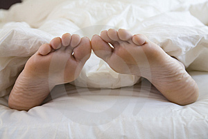 Sleeping Woman's feet Royalty Free Stock Photography