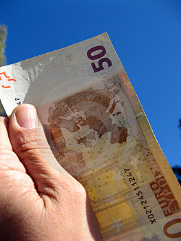 Fifty Euros Stock Image - Image: 3305071