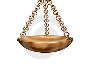 Golden Physical Balance Stock Photo - Image: 3315720