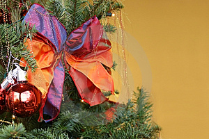 Christmas Tree With Copyspace Royalty Free Stock Photography - Image: 3317957