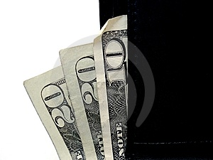 Money In Wallet Royalty Free Stock Photos - Image: 3319428