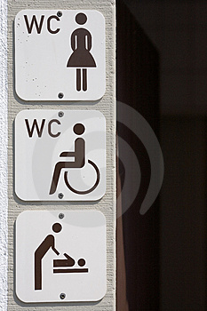Information Signs Toilet Stock Photo - Image: 3324990
