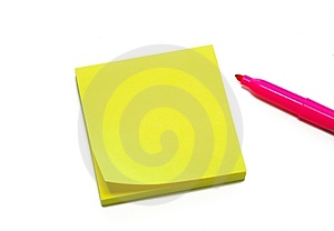 Yellow Sticky Pad Royalty Free Stock Photos - Image: 3336008