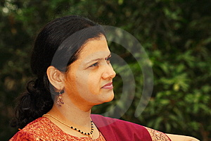Ambitious Maharshtrian Woman Stock Photo - Image: 3349130