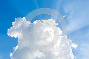 Clouds in the blue sky Free Stock Photography