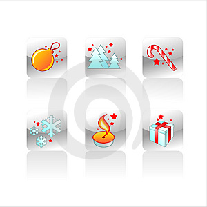 Christmas Detailed Icons Royalty Free Stock Images - Image: 3353419