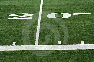Football twenty yard m Royalty Free Stock Image