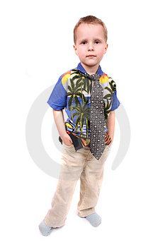 Boy As Manager Royalty Free Stock Photos - Image: 3364128