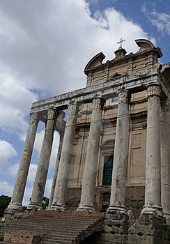 Roman Forum Church Images libres de droits - Image: 3379549