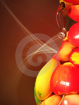 Light Of Fruit Pot Stock Images - Image: 3379864