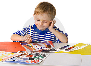 Young painter Stock Photos