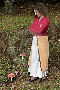 Mushroom Lady Stock Photos - Image: 345863