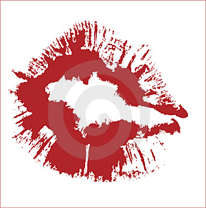 KISS VECTOR Royalty Free Stock Photography