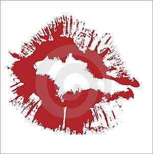 KISS VECTOR Free Stock Photography