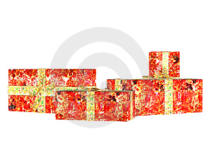 Christmas Presents . 2 Royalty Free Stock Image - Image: 3412416