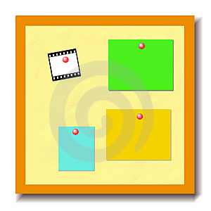 Bulletin Board Royalty Free Stock Photo - Image: 3416315
