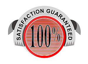100% satisfaction guaranteed Stock Images