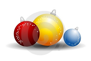 Glass Ball Christmas Ornaments Royalty Free Stock Photo