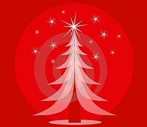 Red Opaque Christmas Tree Stock Photos