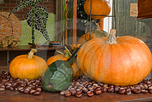 Autum Decoration Pumpkins Royalty Free Stock Images - Image: 3431799