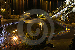 Circle Traffic In Budapest Royalty Free Stock Images - Image: 3432839
