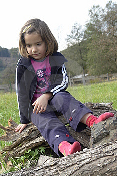 Sad Little Girl Stock Photography - Image: 3432912