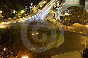 Circle Traffic In Budapest Royalty Free Stock Image - Image: 3433266