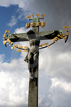 Jesus On Cross Royalty Free Stock Photos - Image: 3433958