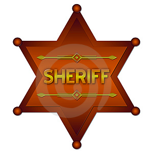Sheriff Abstract Badge Stock Photo - Image: 3436640