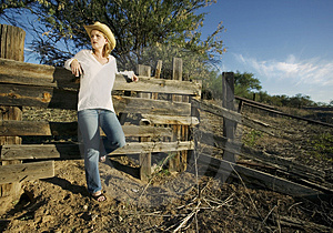 Western Woman Royalty Free Stock Image - Image: 3441776