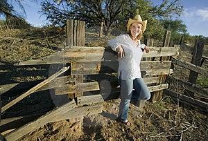Western Woman Stock Image - Image: 3441791