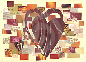 Free Stock Image - Hearts - collage