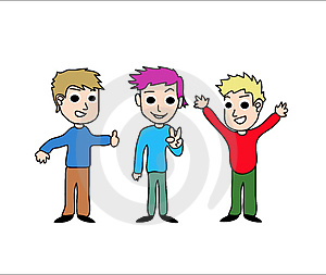Kids cartoon Stock Image