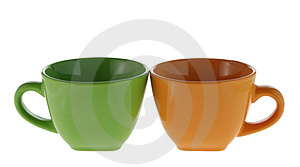 Isolated Color Cups Royalty Free Stock Image - Image: 3468146