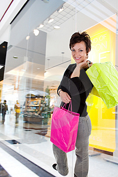 Woman shopping Stock Photography