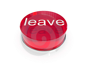 Leave Button Stock Image - Image: 3471831