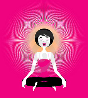 Yoga-Meditation, Illustration Royalty Free Stock Photography