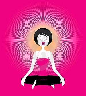 Yoga-Meditation, Illustration Free Stock Photography
