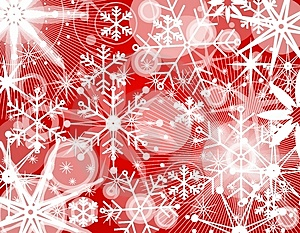 Snowflake Collage Background 2 Stock Image